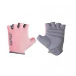 Перчатки для фитнеса STARFIT SU-127, розовый/серый